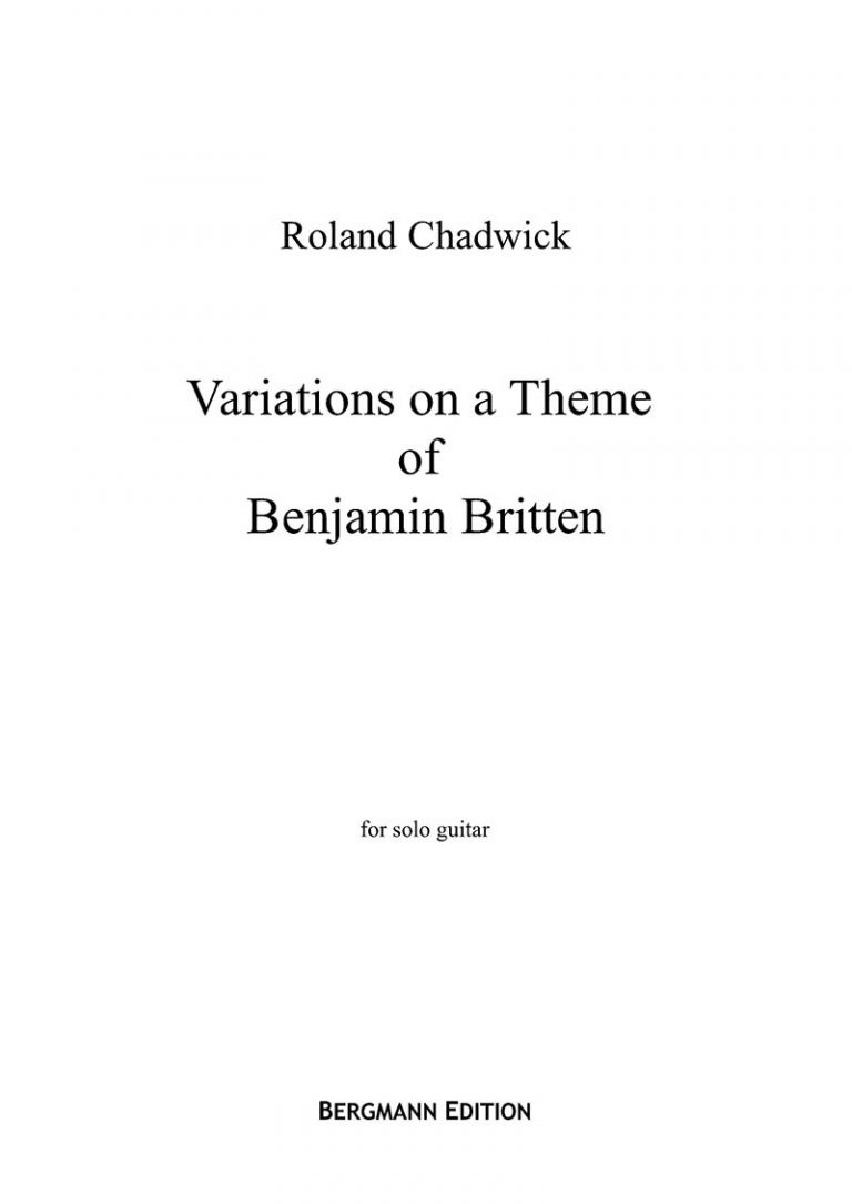 Variations on a Theme of Benjamin Britten